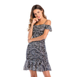 Fairy Style Dresses Canada - Cheap Summer Maxi Floral Printed Dresses Women Long Dresses Off the Shoulder Beach Dresses Fairy Skirt
