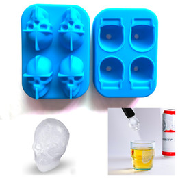 food grade silicone mold ice NZ - 2018 Silicone Skull Ice Tray Ice Cube Mold PHA Free FDA Food Grade Ice Tray Party Bar Whiskey Cocktail Novelty