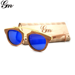 $enCountryForm.capitalKeyWord UK - G M 2018 Vintage Cherry Wood Sunglasses Men's Brand Designer Classic Bamboo Sunglasses Men's Women Driver Metal