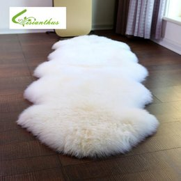 75 106cm Imitation Sheepskin Hairy Carpet for Living Room Bedroom Rugs Skin  Fur Plain Fluffy Area Rugs Washable Bedroom Faux Mat 638949cc7