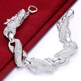 925 silver dragon chain NZ - New Arrival 925 Sterling Silver Bracelet Bangle Cuff Men And Women Dragon Bracelet 925 Silver Fine Jewelry Party Gift