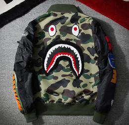 Young mens jackets online shopping - new BP MA1 Bomber Flight jacket Patch shark young mens hip hop streetwear Warm fashion coats Baseball clothing