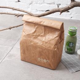 Picnic Ice Packs Australia - Ice pack kraft paper picnic bag Environmentally solvable Tyvek aluminum film lunch box bag outdoor camping