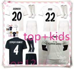 c1ca4ec3135 Cheap 2018 2019 Real Madrid Kids soccer jerseys kit 18 19 ASENSIO RAMOS BALE  ISCO MODRIC Benzema Camiseta football kit Jerseys