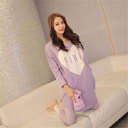54e23acb79 Casual Autumn Winter Women Pajamas Set Sleep Wear Cartoon Thick Warm Modal  Velvet Suit kawaii Long Sleeve Animal sleepwear 2017