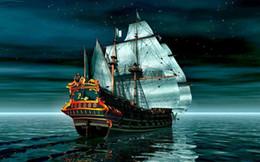 $enCountryForm.capitalKeyWord NZ - Sailing Ship on the High Seas Home Decor Art Silk Poster 24x36inch 24x43inch