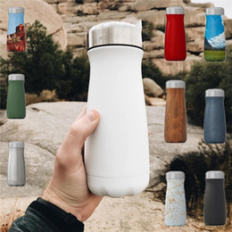 water bottle shapes wholesale 2019 - Cola Big Mouth Coke bottle Shaped Bottle Stainless Steel Vacuum Cup Flask Outdoor Sports Portable Bicycle Travel Water B