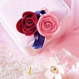 Wholesale Agood high quality vintage floret cloth camellia flower brooch pin for women sweet girls kids gift scarf pins