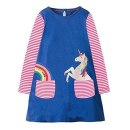 Chinese  Kids Dress Jersey Baby Girl Dress 2018 Hot Sale Autumn 100% Cotton Dresses for Kids Clothing Baby Girl Clothes manufacturers