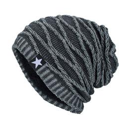 b296f404dd0 2018 Winter Bonnet Gorros Caps Beanies Hat Unisex Warm Knitted Skull Knitting  Cap Thick Hats Star Caps Men Skullies Women Q4