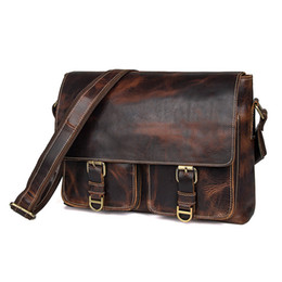 $enCountryForm.capitalKeyWord UK - High-end quality new men's bag Vintage imported genuine leather shoulder diagonal package Crazy horse bag free shipping