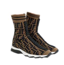 $enCountryForm.capitalKeyWord UK - Women Boots Designer original Luxury ins hot Boutique Fashion Brand letter sexy Knitting soft elastic sports Wool socks tube woolen Boot