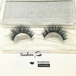 75a43bf14ba 2018 Seashine Hot sale 3D Mink hair False Eyelashes individual Black Curl False  Eyelash Extension Eye Lashes Makeup Tools free shipping