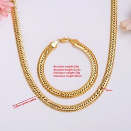 300bb4a79d0e5 GOLD AUTHENTIC 18 K SOLID GOLD FILLED MEN S CUBAN LINK CHAIN NECKLACE SZ  19.6