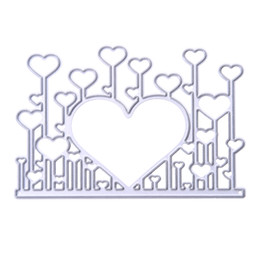 $enCountryForm.capitalKeyWord NZ - Heart Cutting Dies DIY Scrapbooking Embossing Metal Stencil Wedding Decoration Cards Decorative Craft Dies Card Cutter