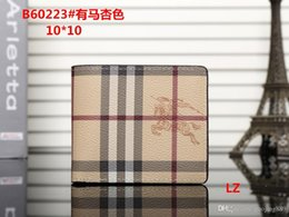 Ladies siLk beLts online shopping - 2018 Male luxury wallet Casual Short designer Card holder pocket New Fashion Purse wallets for mens wallets purse with tags
