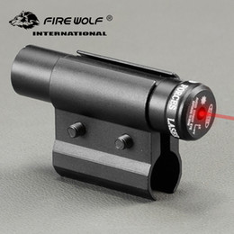 tactical rail laser Australia - FIRE WOLF Tactical Red Dot Laser Sight Scope With Mount for Pistol Picatinny Rail and Rifle For Airsoft Hunting