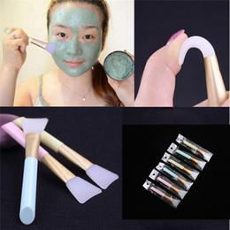 SM002 1PC Profesional de silicona facial Mascarilla de barro cepillo de la piel cuidado de la belleza de mezcla base de maquillaje Cepillos Herramientas de bricolaje en venta