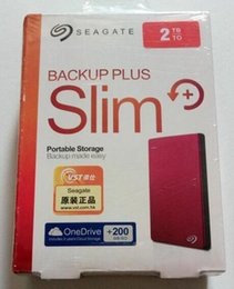 Neue 2018 Seagate Backup Plus neue Farce 2 TB HDD extern tragbare externe Festplatte USB 3.0 HDD 2 TB rot