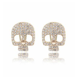$enCountryForm.capitalKeyWord UK - Crystal Skull Men & Women Stud Earrings Birthday Party Banquet Gift Rock Racing Cycling Fashion Jewelry 7029 (3-colors)