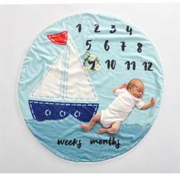 Infant swaddlIng blankets online shopping - Kids fluffly milestone Blanket Infant Swaddling flower number letter animal print newborn wraps child Playing mat BHB57