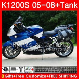 $enCountryForm.capitalKeyWord NZ - Body For BMW K-1200S K 1200 S 05 10 K1200 S 05 06 07 08 09 10 103HM.34 K 1200S K1200S 2005 2006 2007 2008 2009 2010 hot blue Fairing kit