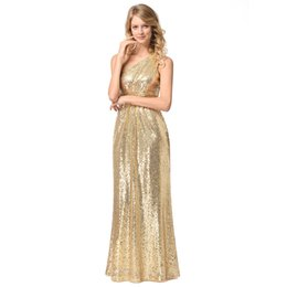 4d9c0e8620 Rose Gold Sequins Bridesmaid Dresses 2018 Bling For Weddings One Shoulder A  Line Long Floor Length Plus Size Formal Maid of Honor Gowns