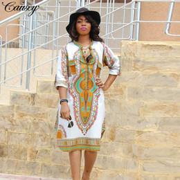 4ff46506a31 2018 New Summer Dashiki Vintage Print Long Dress Retro Ladies Plus Size  Women long sleeves Midi dress Clothing women African Print Dresses