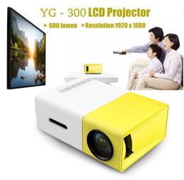 Портативный проектор YG300 LED 400-600LM 3.5 мм Аудио 320 x 240 пикселей YG-300 HDMI USB Mini Projector Home Media Player