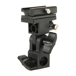 flash mount stand 2019 - High Quality B Type Universal Mount Flash Hot Shoe Adapter Trigger Umbrella Holder Swivel Light Stand Bracket discount f