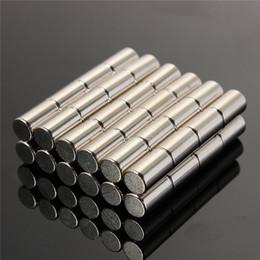 China 50pcs 6 x 10mm N50 Round Disc Cylinder Magnets Rare Earth Circular Permanent Neodymium magnet 6mm x 10mm Magnets cheap magnets cylinders suppliers