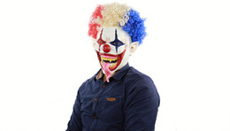 Discount spiking hair - Halloween Mask Spiked Hair Clown Full Face Latex Terror Crown masks Horror Mask For Halloween Cosplay Party M18110603A