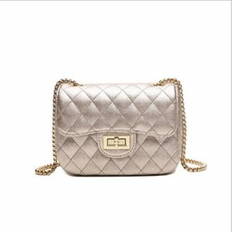 Trendy Cross Body Bags UK - 2019 new Lingge chain bag Korean PU handbags  fashion simple a780e4a877fc1