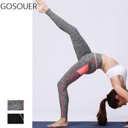 Super Tight Yoga Pants NZ - Super Stretchy Gym Yoga Pants High Waist Tights Energy Tummy Control Sport Leggings Running Pants Fitness Sports