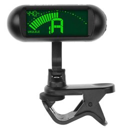 Discount digital bass guitar - Digital Guitar Clip On Tuner Chromatic LCD Dual Rotating Shafts Electric Tuner for Bass Guitar Accessories