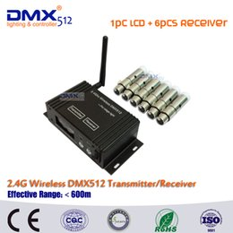 Dmx512 Wireless Controller Australia - DHL Free Shipping 2.4G dmx512 wireless Transmitter Receiver 2in1 LCD Display Power Adjustable Repeater lighting controller