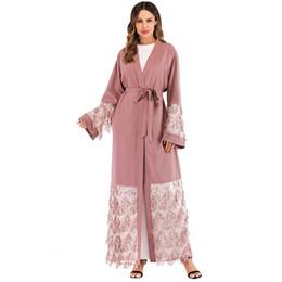 Abaya Kaftan Robe Dubai Arab Islam Mesh Sequined Muslim Hijab Dress Jilbab  Qatar UAE Abayas For Women Turkish Islamic Clothing 02915c13eacb