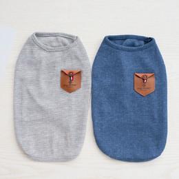 $enCountryForm.capitalKeyWord NZ - Summer Thin Dog Vests Sweaters Cotton Casual Small Pet T shirt Soft Dog Cat Shirt Clothing Costumes Apparel