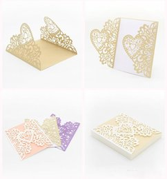 $enCountryForm.capitalKeyWord Canada - Romantic Wedding Invitations Card Design Love Heart Shaped Greeting Card Exquisite Paper For Valentine Day Fashion Gifts 1 45ym ZZ