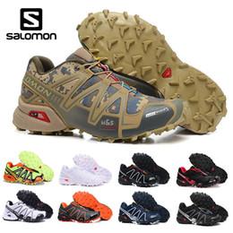 4ac3a1b604429 New cs online shopping - Salomon New arrivel Desert color Camouflage Shoes  Men Speed Cross CS