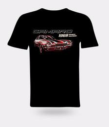 Vintage Car Prints UK - Vintage American Car Chevrolet Camaro 1968 Black Men Printed T-shirt Gift Print T-shirt Hip Hop Tee T Shirt NEW ARRIVAL