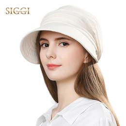 Siggi Hat NZ - SIGGI Women summer sun hat visor linen bucket packable wide  brim UPF50+ 76817e15825f