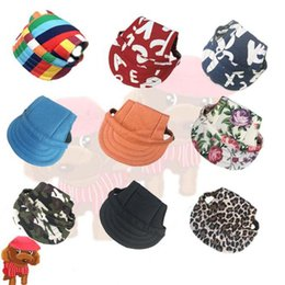 da6c605db39 Hot Summer pet dog cute print Cap Baseball Hat Small Dog outdoor canvas