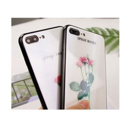 $enCountryForm.capitalKeyWord Australia - Laser gradient color Small fresh flower pattern case for iphone X 6 6s 6 plus 6s plus 7 8 7 8 plus glass Cell phone cases + Ring bracket