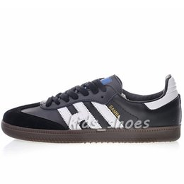 China luxury fashion samba leather Casual Shoes mens womens black white blue Breathe gazelle og star Shoe Size 36-45 cheap red star fashion suppliers