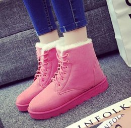 Femmes hiver plein air bottes intérieures dames bottes de neige antidérapantes bottes légères femmes chaussures de neige doublure intérieure chaussures de marche pour-40C en Solde