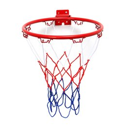 $enCountryForm.capitalKeyWord Australia - 32cm 45cm Wall Mounted Hanging Basketball Goal Hoop Rim Net Metal Sporting Goods Netting indoor or outdoor for basketball game