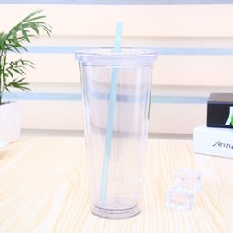 classic plastics NZ - Classic Cold Drink Tumbler Double Wall Insulated Travel Tumbler plastic water bottle 21oz with Lid, Reusable Straw Kitchen, Dining & Bar