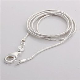 f2340edff003 C008 Cheap Hot 1MM Thin Top quality 925 stamped silver plated Snake Chain  Jewelry Findings 16