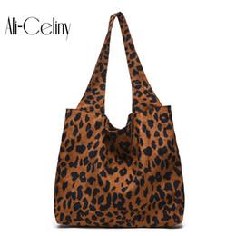 $enCountryForm.capitalKeyWord NZ - 2018 designer Brand Leopard Print corduroy bolsas femininas Women bag ladies Handbag Shoulder Bag Female Tote Sac Crocodile